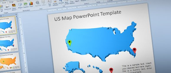 Awesome & Free USA Map Outline for PowerPoint Presentations