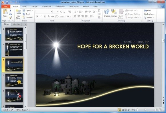 hope for a broken world sample slide - Free Church Powerpoint Templates