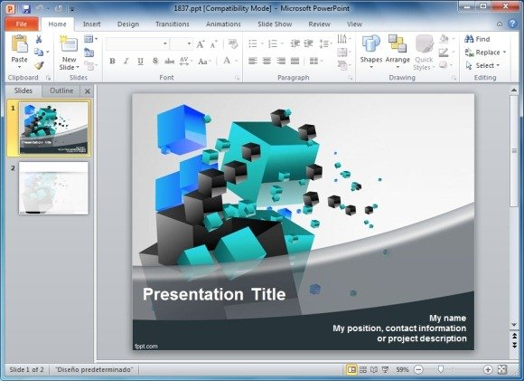 solve 3d cube puzzle templates for powerpoint, Modern powerpoint