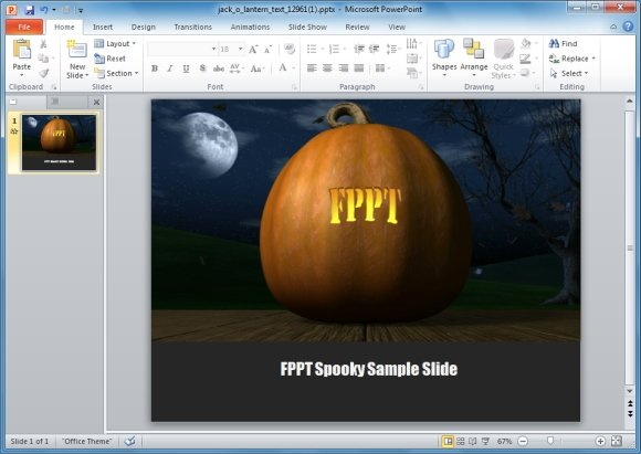 Animated Jack O Lantern PowerPoint Template