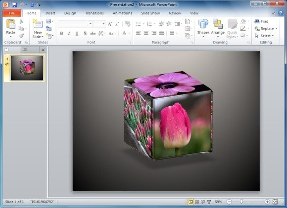 Animated Spinning Cube PowerPoint Template