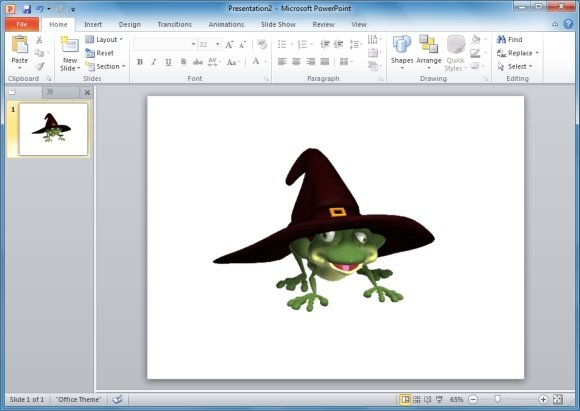 Buggy Frog Witch Hat PowerPoint Animation