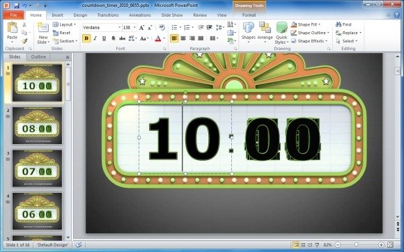 awesome countdown powerpoint templates, Modern powerpoint