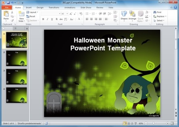 Halloween Monster PowerPoint Template