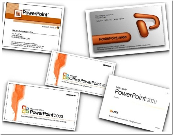 PowerPoint From Version 2000 to 2010