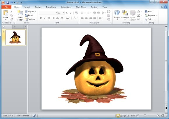 Pumpkin Witch Hat PowerPoint Animation