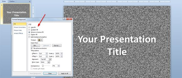 how to change powerpoint background
