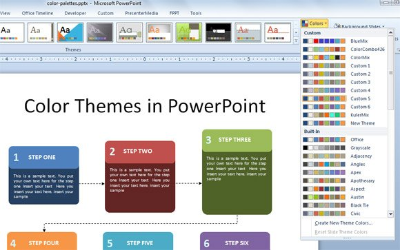 Working with custom color palettes in powerpoint 2010 toneelgroepblik Image collections