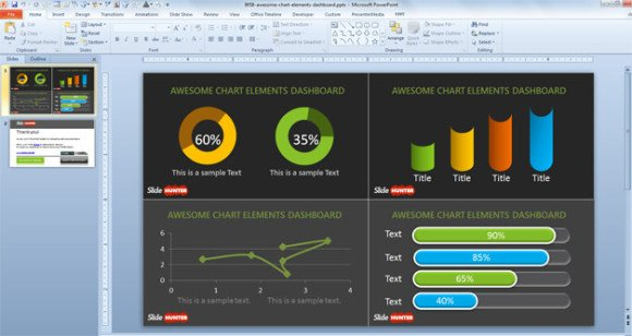 digital dashboards and scorecard designs for inspiration, Modern powerpoint