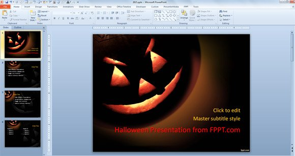 premium free halloween powerpoint templates for 2013