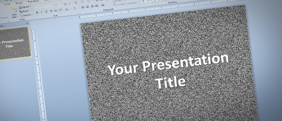 How to Make a PowerPoint Template with Random Background Design