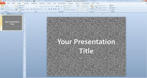 Random PowerPoint template