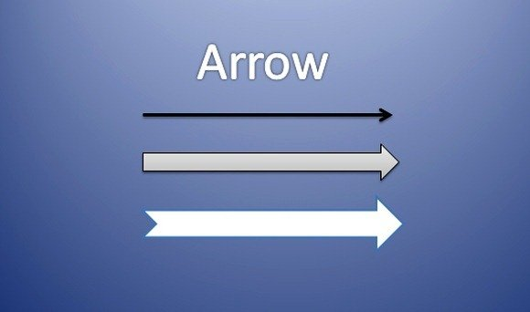 Arrow Symbol in Flowchart