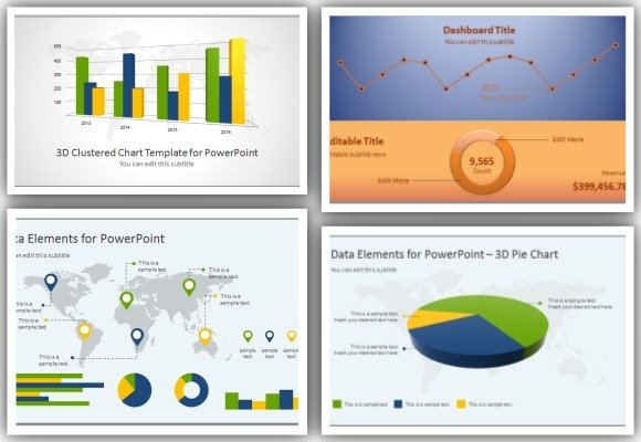 high-quality charts & dashboard powerpoint templates for presentations, Modern powerpoint