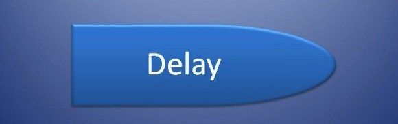 Delay Symbol in Flow Chart