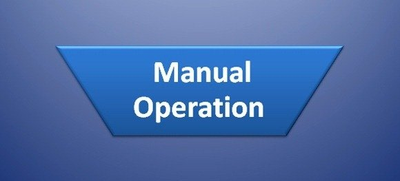 Manual Operation Symbol in Flow Chart