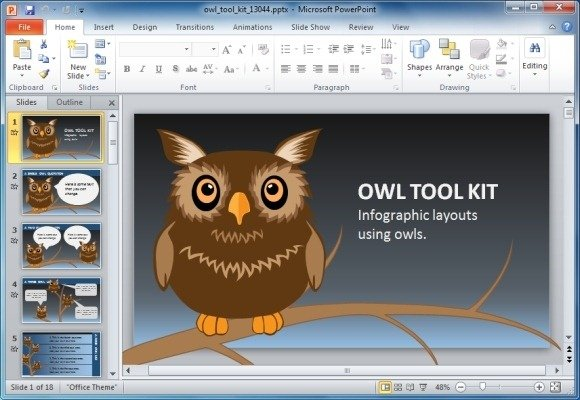 Animated owl powerpoint template for presentations on knowledge owl toolkit for powerpoint toneelgroepblik Image collections