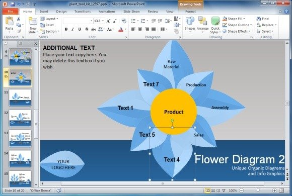 Plant Toolkit for Business Presentations