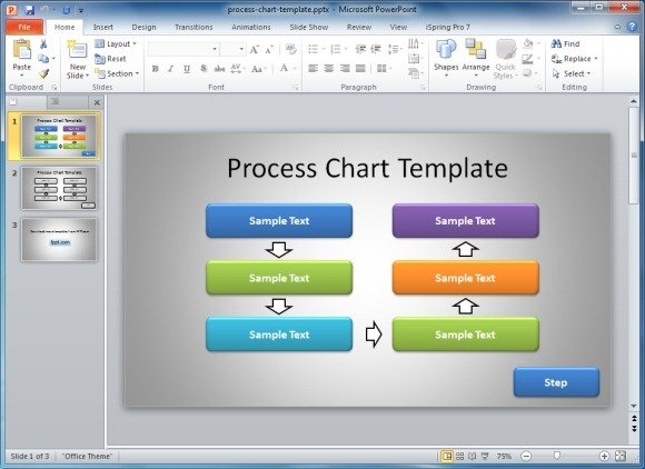 Simple Process Chart PowerPoint Template