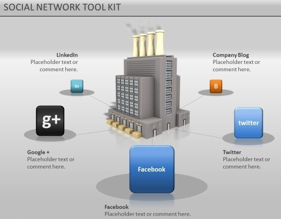 Animated social network powerpoint template for presentations social media toolkit toneelgroepblik Images