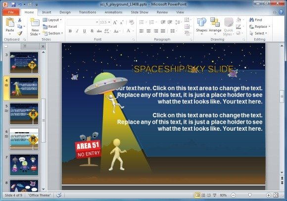 Animated sci fi powerpoint template for kids educational presentations aliens powerpoint template toneelgroepblik