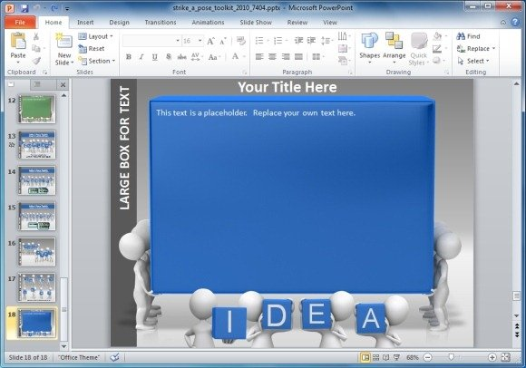 strike a pose powerpoint template, Modern powerpoint