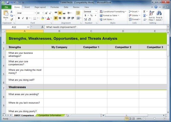 Swot analysis google slides template free google docs presentation.