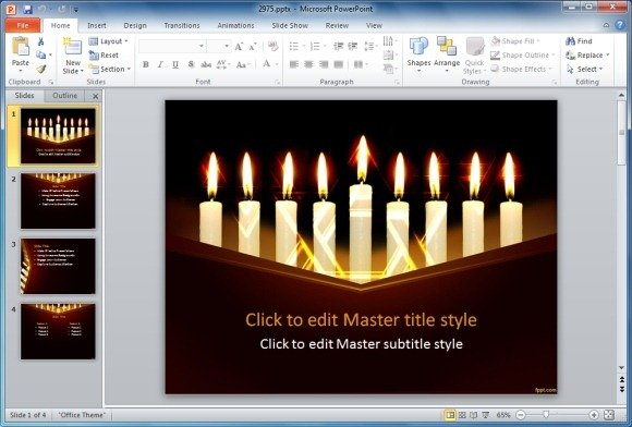 Free Hanukkah PowerPoint Template