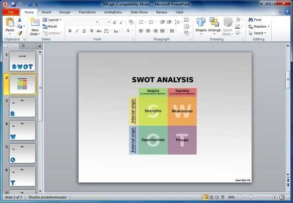 Free SWOT Analyisis PowerPoint Template