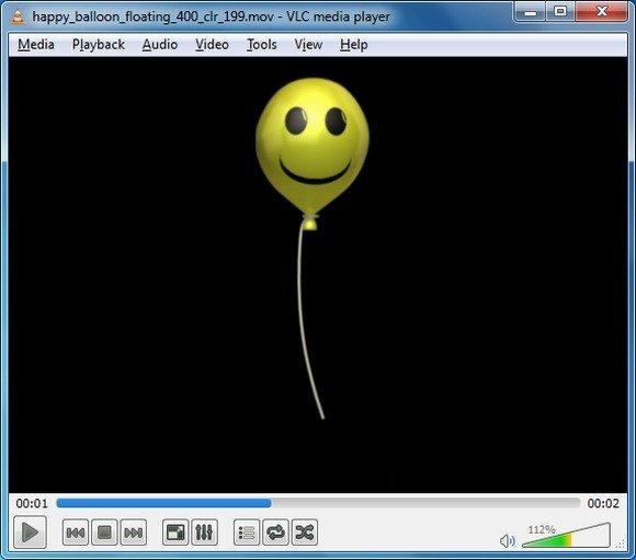 Happy Balloon Floating Animation