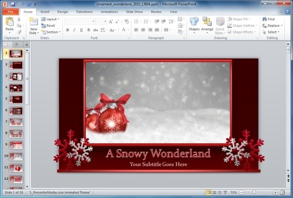 How to create seasonal event celebration invitations in powerpoint ornament winter wonderland powerpoint templateg toneelgroepblik Choice Image