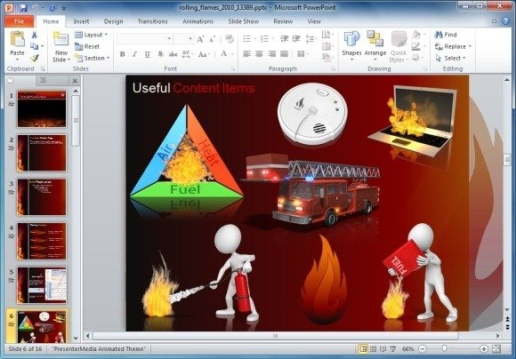 Animated flames powerpoint template and clipart rolling flames clipart toneelgroepblik Image collections