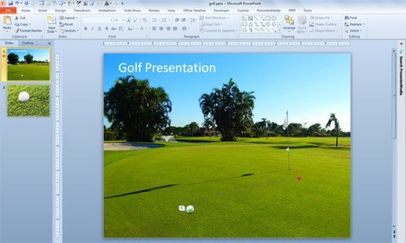 Golf ball animation using custom path in powerpoint 2010 toneelgroepblik Choice Image