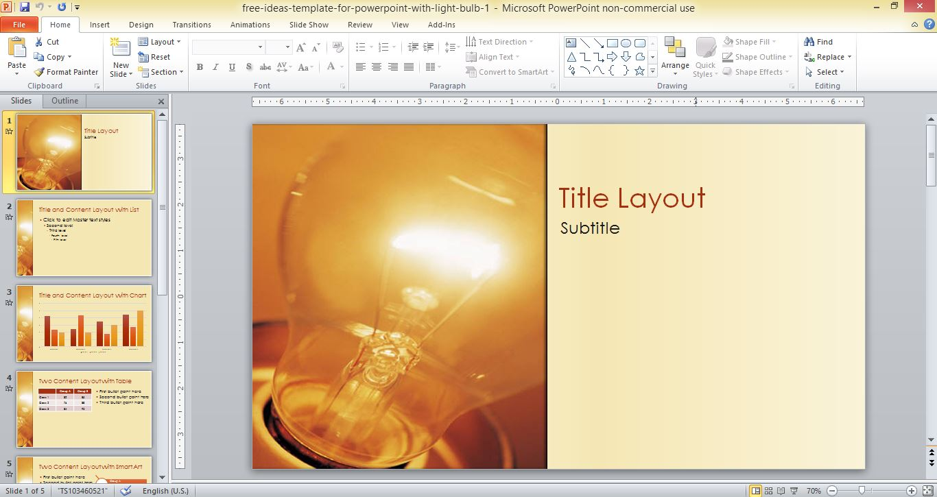 Free ideas template for powerpoint with light bulb alramifo Choice Image