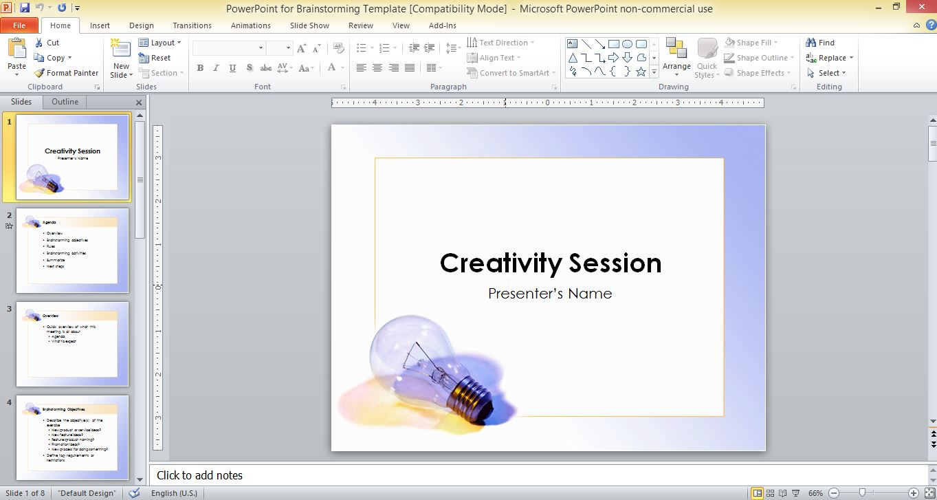 powerpoint for brainstorming template, Modern powerpoint