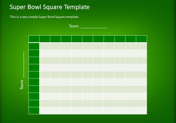 How to make a simple football squares template using powerpoint toneelgroepblik Choice Image