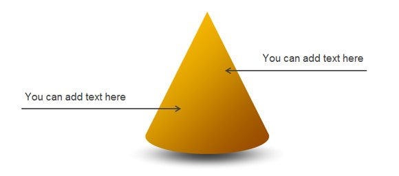 Awesome 3D Cone Diagram for PowerPoint