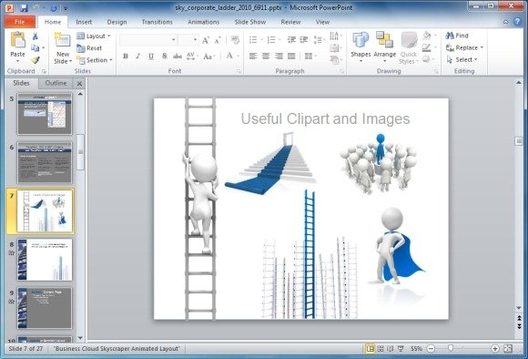 Corporate Ladder Clipart