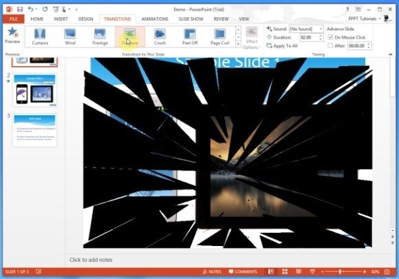 Fracture Transition Effect in PowerPoint