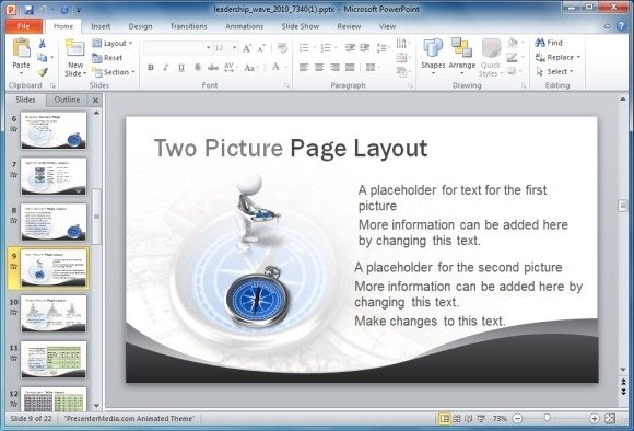 Leadership PowerPoint Template With Animations