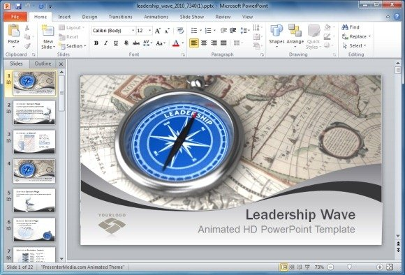 Animated Leadership Powerpoint Templates