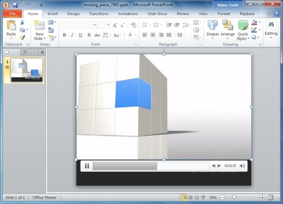 Animated 3d cube powerpoint template missing piece animation toneelgroepblik Images