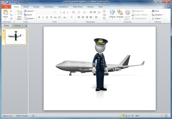 Animated airplane templates for powerpoint pilot standing in front of airplane toneelgroepblik Gallery