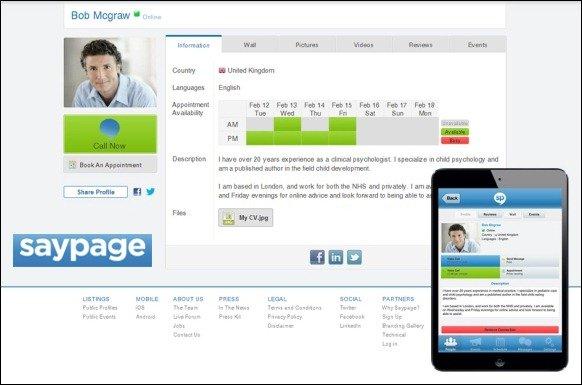 Saypage Web Service
