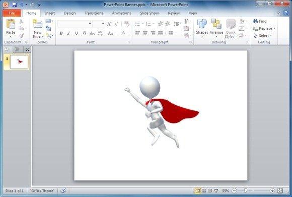 Stick Figure Superhero Flying Icon