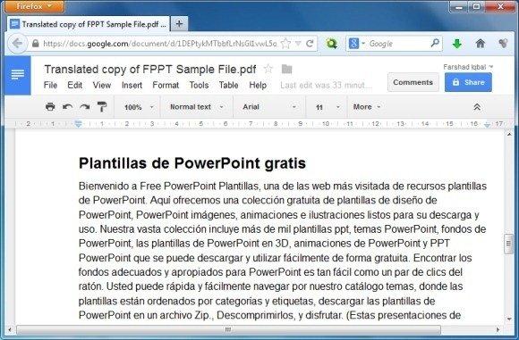 Translated PDF Document