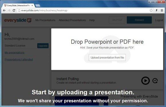 Upload PowerPoint or Keynote File