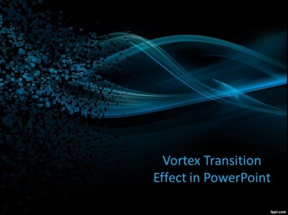 Vortex Transition Effect in PowerPoint