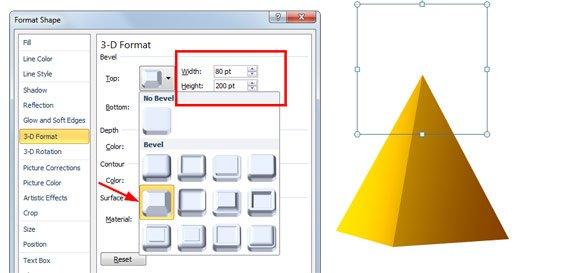 bevel powerpoint ppt pyramid template jpg fppt