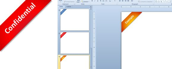 Confidential Ribbon Verbiage created with PowerPoint